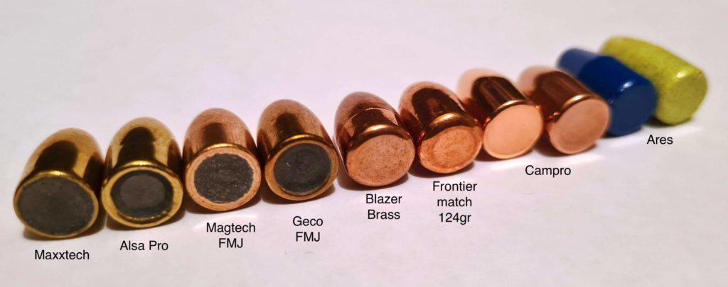 Bilde av undersiden av ulike kuler